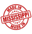 made in mississippi red grunge round stamp vector image vector image
