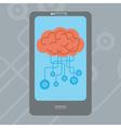 Mobile Brain vector image vector image