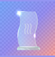 my best trophy crystalic award in waved shape vector image