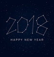 new-year-2018-stars-sky vector image vector image