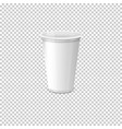 realistic paper coffee cup set eps10 vector image vector image