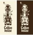 Retro coffee house vector image vector image