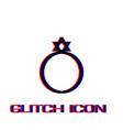 ring david star icon flat vector image vector image