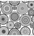 seamless pattern from ethnic round mandalas vector image vector image