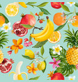 seamless tropical fruits pattern exotic background
