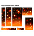 set of ad banners for diwali festival with sizes vector image