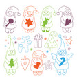 set of christmas gnome icons vector image vector image