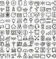 Set of linear media service icons 100 icons vector image vector image