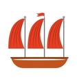 ship sailboat maritime icon vector image vector image