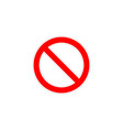 sign prohibition for labels and stickers with vector image