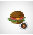 Sketch juicy and tasty burger icon vector image vector image
