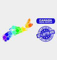 spectrum mosaic nova scotia province map and vector image vector image