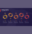 stylish colorful timeline infographic vector image vector image