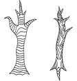 Tree Trunk Icon Set vector image