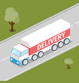 truck delivery isometric vector image