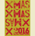 typographical vintage grunge christmas card vector image vector image