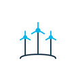 wind power icon colored symbol premium quality vector image