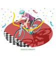 winner rider success concept vector image vector image