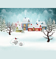 winter village christmas holidays vector image vector image