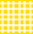 yellow gingham pattern seamless background vector image vector image