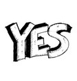 yes 3d text doodle vector image vector image