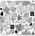 black and white forest for coloring vector image