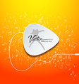 Pick guitar music design on orange background vector image