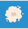 Milk Splashing Isolated on blue background Milk vector image