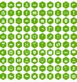 100 construction icons hexagon green vector image vector image