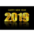 2019 new year a glossy voluminous inscription and vector image vector image