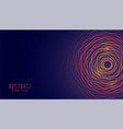 abstract circular glowing lines background design vector image