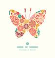 abstract decorative circles butterfly silhouette vector image