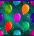 Balloon Low Poly Pattern vector image vector image