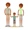 beautiful african american family vector image vector image