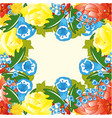 beautiful field flower vector image vector image