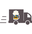 beer delivery symbol template logo vector image