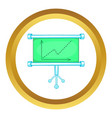 Board with statistics icon vector image vector image