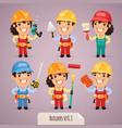 builders set1 1 vector image vector image