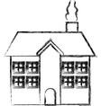 building facade exterior chimney roof vector image vector image