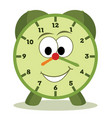 cartoon clock vector image vector image