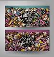 cartoon cute colorful doodles sweet food vector image vector image