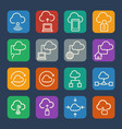 cloud computing icons set for internet and vector image vector image