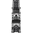 color crayon stripe cartoon building architecture vector image vector image