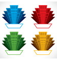 colorful building icon stock vector image vector image