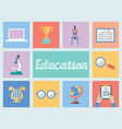 Concept of education Flat style design vector image vector image