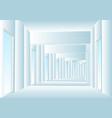 corridor vector image vector image