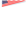 decorative american patriotic corner with usa flag vector image vector image