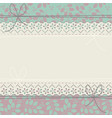 decorative horizontal lace frame with elegant vector image vector image