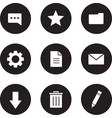 Digital icons set Black vector image