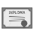 Diploma icon gray monochrome style vector image vector image